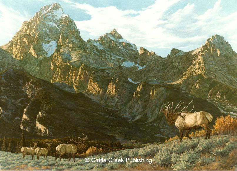 """Teton Royals"" Teton Royals mansanarez wildlife art"